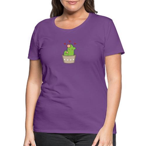 Kaktus Mama mit Kaktus Baby - Frauen Premium T-Shirt