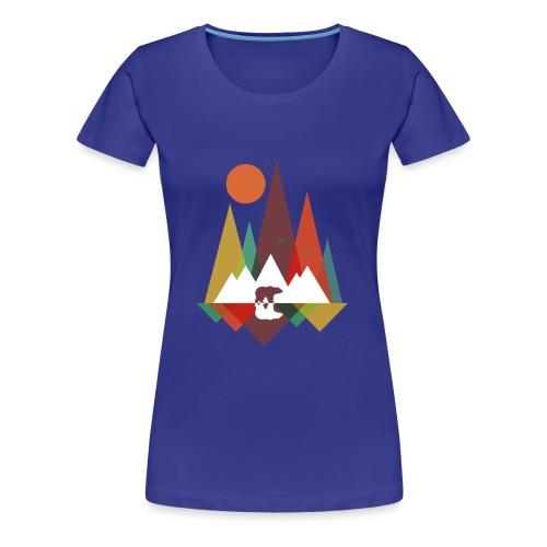 Bär in den Bergen - Frauen Premium T-Shirt