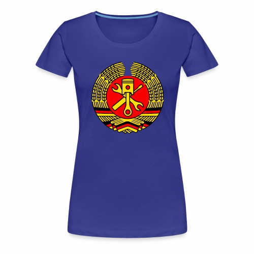 DDR Tuning Coat of Arms 3c (+ Your Text) - Women's Premium T-Shirt