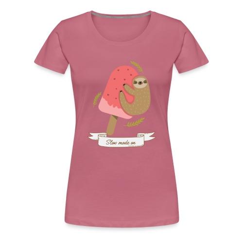 Paresseux Slow mode on - T-shirt Premium Femme
