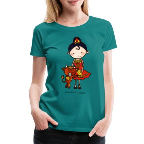 Spanie et castagnette le taurillon - T-shirt Premium Femme