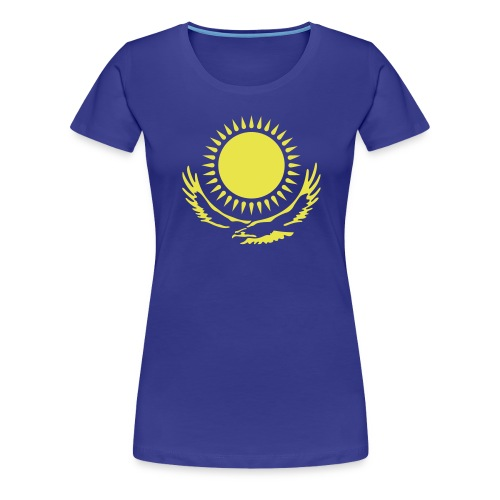 Kasachstan-Wappensymbol - Frauen Premium T-Shirt