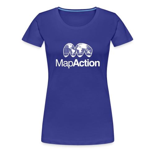 MapAction White on Tranparent - Women's Premium T-Shirt