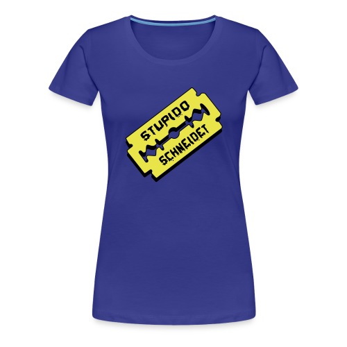 Stupido schneidet Logo - Frauen Premium T-Shirt