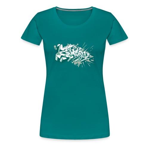 Dae 2Wear graffiti style ver2 Green edt - Dame premium T-shirt