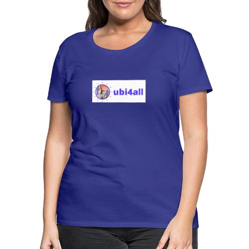ubi4all horizontal blue - Vrouwen Premium T-shirt