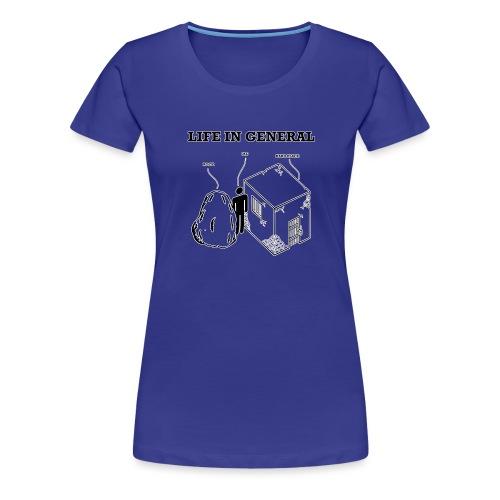 Stuck between a rock and - Premium T-skjorte for kvinner