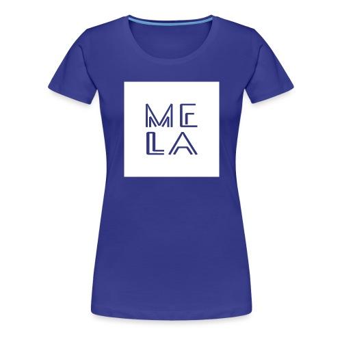 Mela Hvit Logo - Premium T-skjorte for kvinner