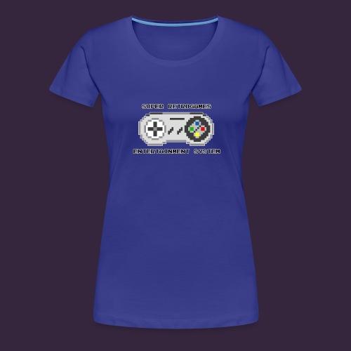 Super retrogames entertainment system - T-shirt Premium Femme