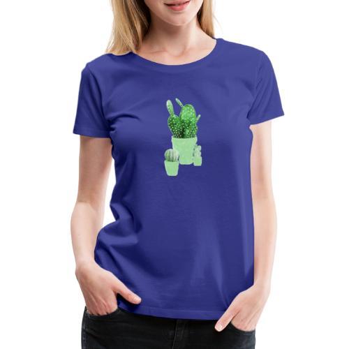 CACTUS AQUARELLE - T-shirt Premium Femme