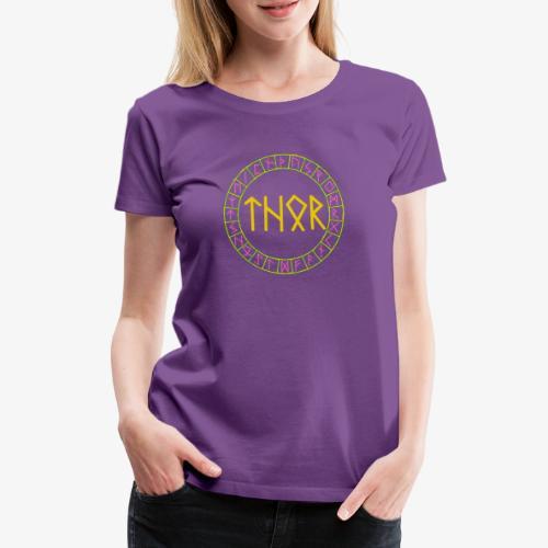 Wikinger - Name von Thor in Runen - Frauen Premium T-Shirt