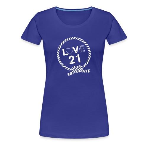 LOVE21 angled - Women's Premium T-Shirt