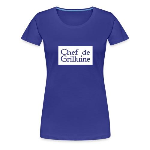 Chef de Grilluine - der Chef am Grill - Frauen Premium T-Shirt