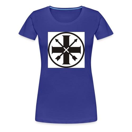 kreuz_schwarz - Frauen Premium T-Shirt