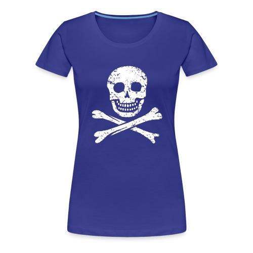 Skull & Crossbones - Distressed - Women's Premium T-Shirt