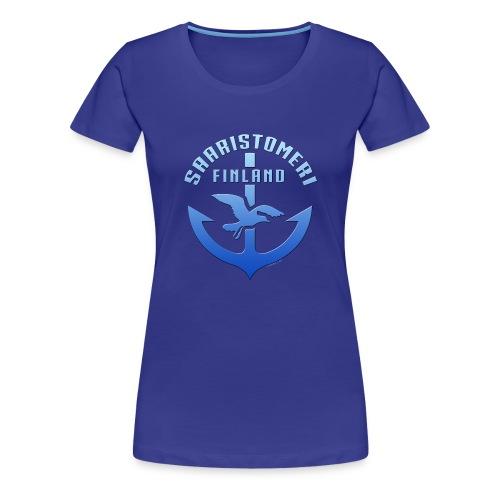 SAARISTOMERI FINLAND ANKKURI Tekstiilit ja lahjat - Naisten premium t-paita