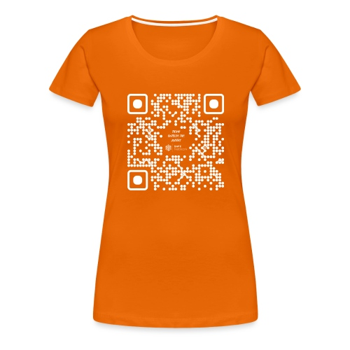 QR The New Internet Should not Be Blockchain Based W - Women's Premium T-Shirt