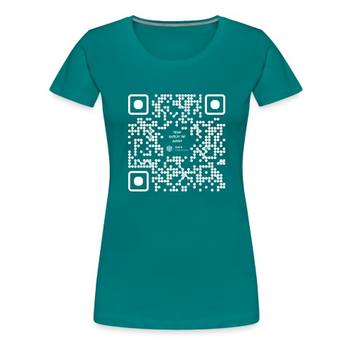 QR The New Internet Should not Be Blockchain Based W - Women's Premium T-Shirt