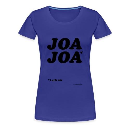 joajoazwart - Vrouwen Premium T-shirt