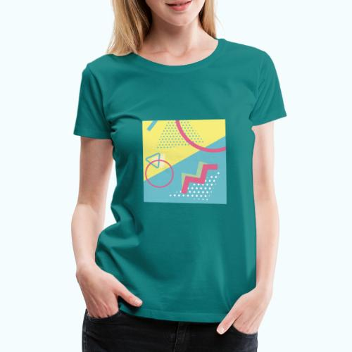 Pastel turquoise geometry - Women's Premium T-Shirt