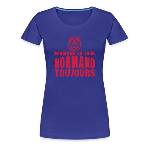 normand un jour toujours face 1 - T-shirt Premium Femme