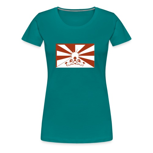 flag red - Frauen Premium T-Shirt