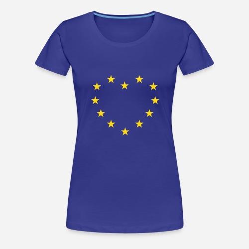 europe star heart - Dame premium T-shirt