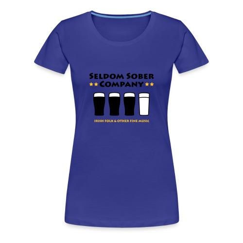 Seldom Sober Company Bier und Milchgläser - Frauen Premium T-Shirt