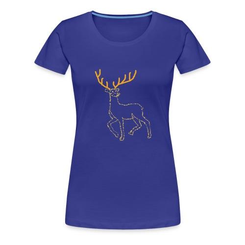 Reindeer print clothes   Gift for Christmas   Jul - Dame premium T-shirt