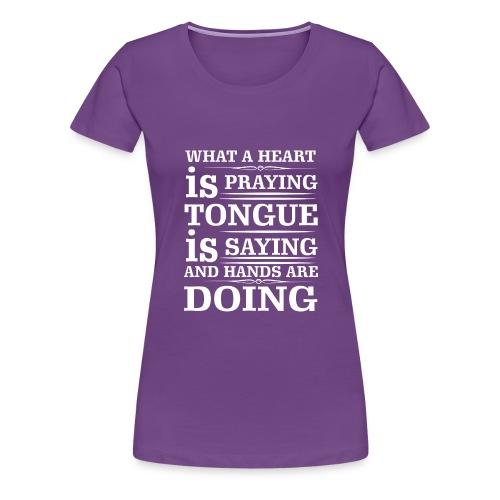 Prayer - Women's Premium T-Shirt