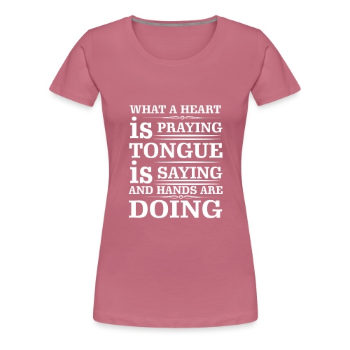 Prayer - Women's Premium T-Shirt