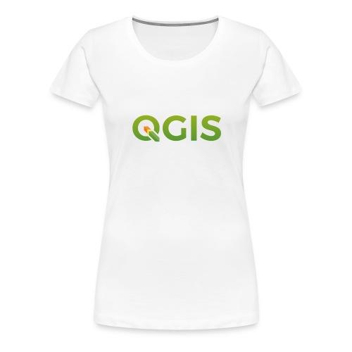 QGIS text transp bg 300dpi - Women's Premium T-Shirt
