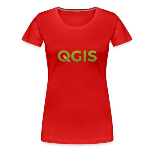 QGIS text logo - Women's Premium T-Shirt