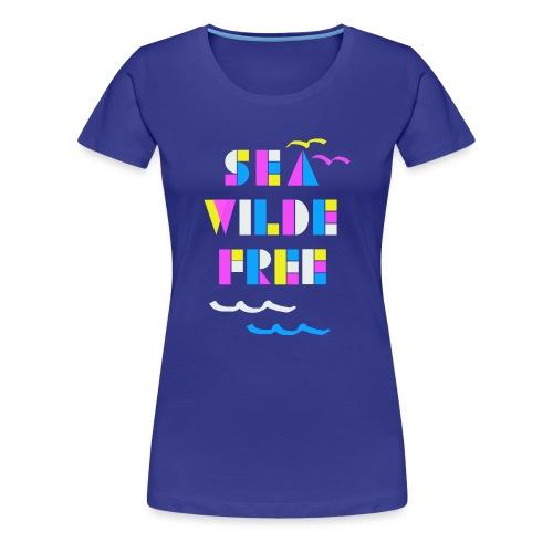 Sea wilde free Craft pattern - Frauen Premium T-Shirt