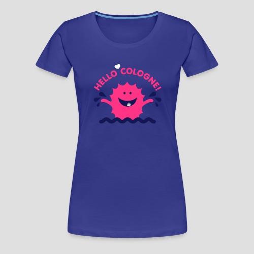 Rhein Monster Hello Cologne - Frauen Premium T-Shirt