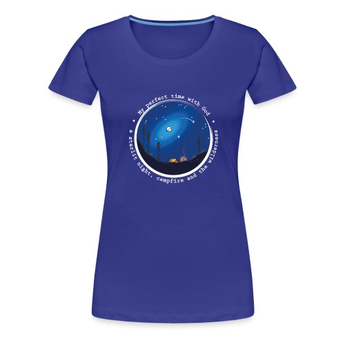 Sany O. Jesus Camping Star Wild Perfect Time God - Frauen Premium T-Shirt