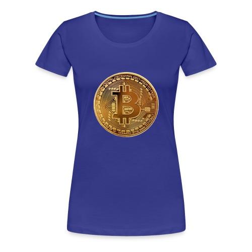 bitcoin Gold Pièce - T-shirt Premium Femme
