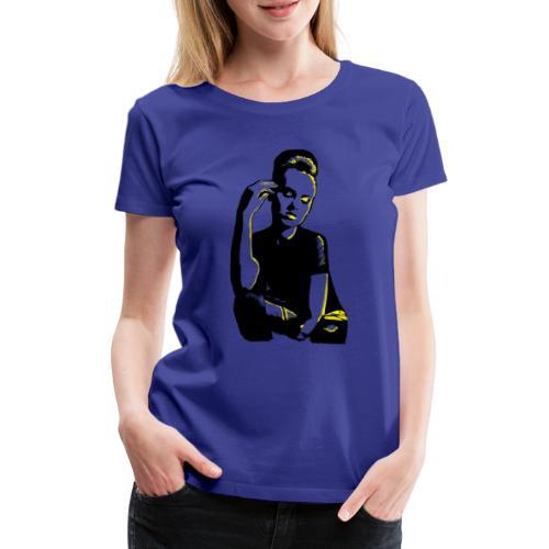 ATTITUDE (yellow) - Dame premium T-shirt