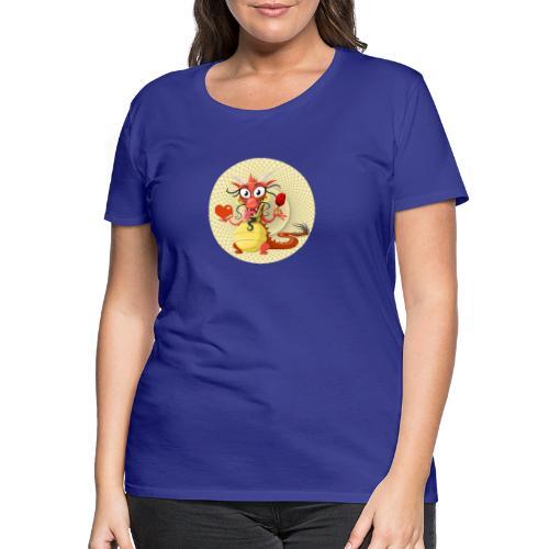 Asia Drache mit Herz - Frauen Premium T-Shirt