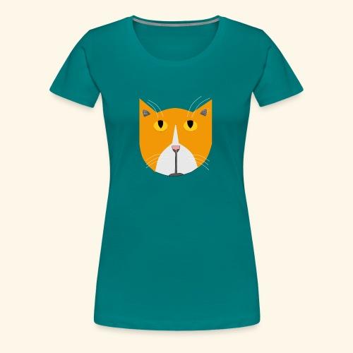Hieno kissa - Naisten premium t-paita