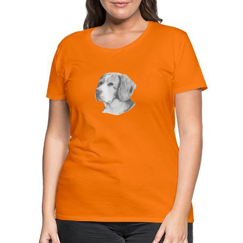 beagle M - Dame premium T-shirt