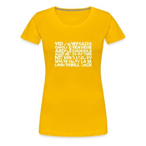spurs cockerel text - Women's Premium T-Shirt
