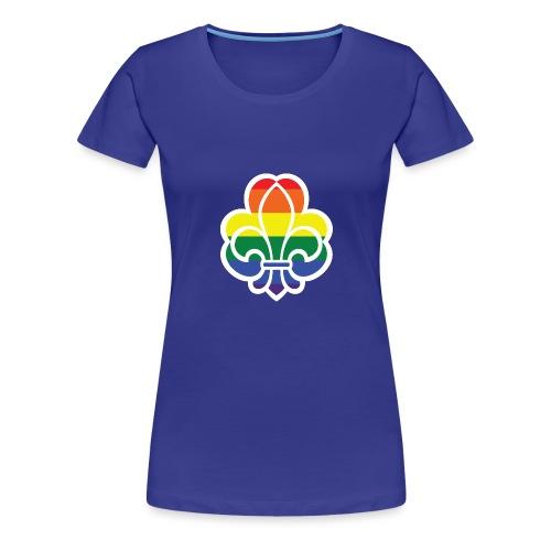 Regnbuespejder jakker og t-shirts mv - Dame premium T-shirt
