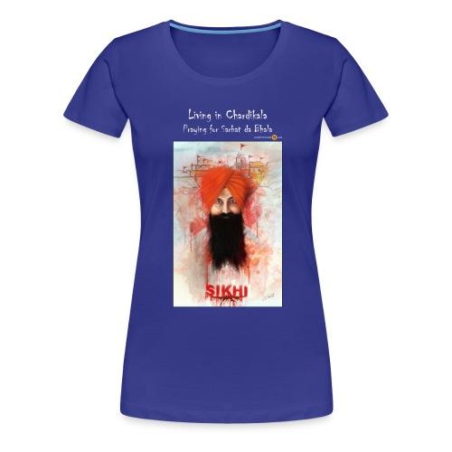 Rajoana white text - Women's Premium T-Shirt