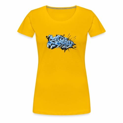 Dae 2wear Style #1 blue edt - Dame premium T-shirt