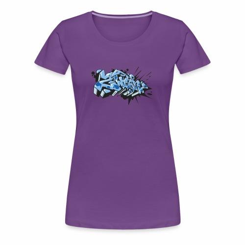 Dae 2Wear graffiti style ver02 LgtBlue edt. - Dame premium T-shirt