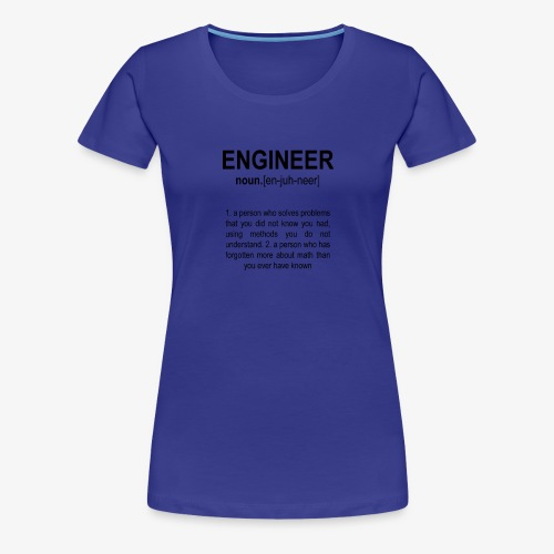 Engineer Def. 2 Black - T-shirt Premium Femme
