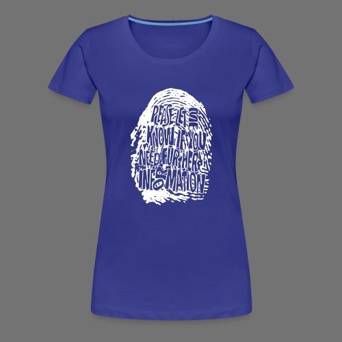 Fingerprint DNA (white) - Frauen Premium T-Shirt