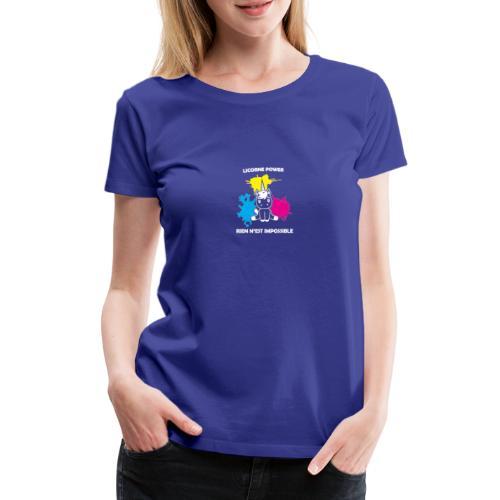 Stickers licorne - T-shirt Premium Femme