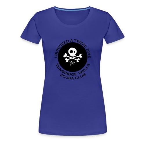 TWSAC vector back skull - Women's Premium T-Shirt